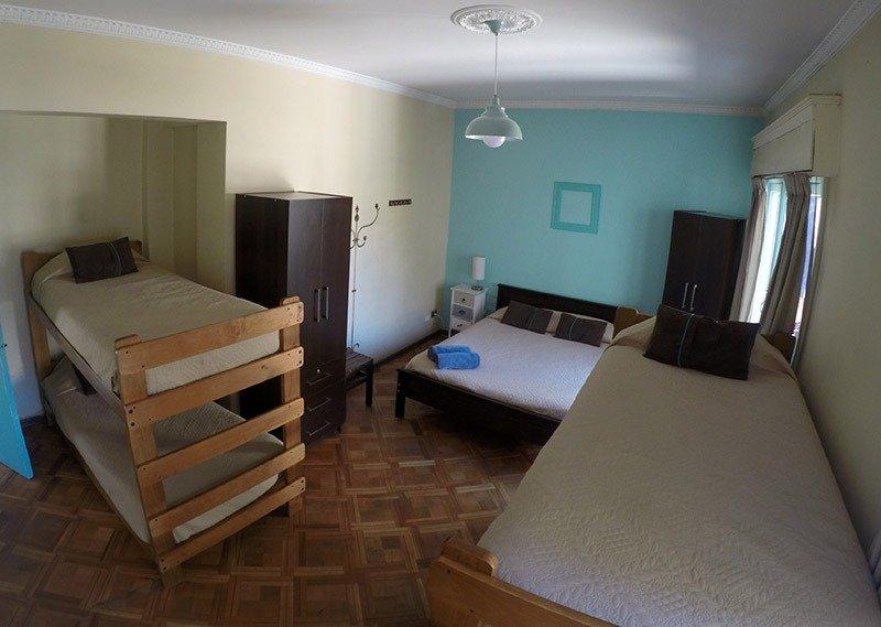quarto casal hostel em santiago