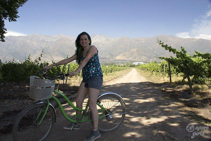 tour de bicicleta em santiago bicicleta verde