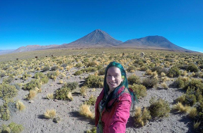 chile vulcao licancabur lhamas estrada