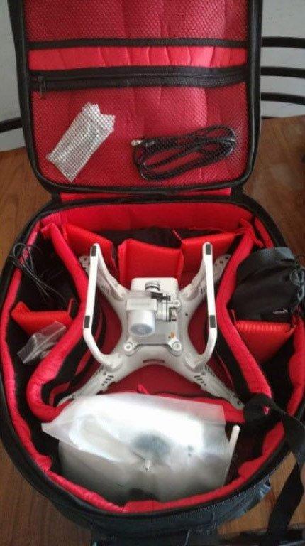 mala para drone improvisada