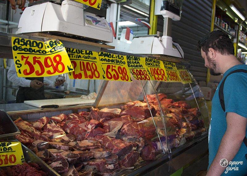 mercado de la vega santiago de chile carne