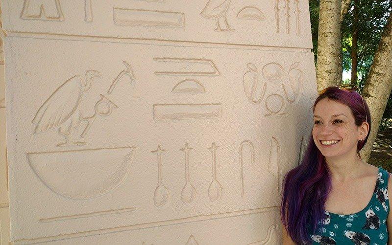 museu egipcio de curitiba rosa cruz hieroglifos