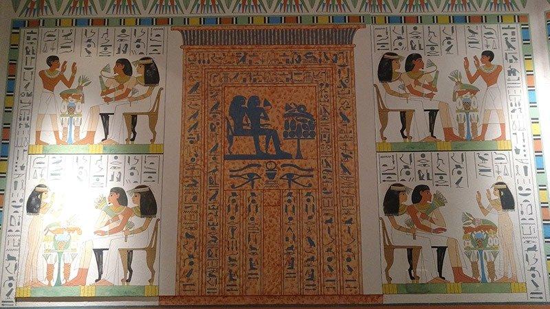 museu egipcio de curitiba rosa cruz parede
