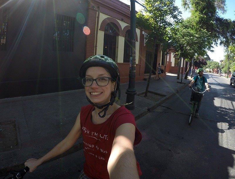 passeio-de-bicicleta-em-santiago-de-chile-bicicleta-verde
