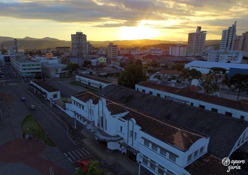 porto união da vitória vista do alto drone