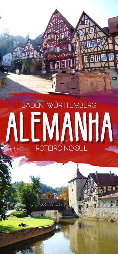 Roteiro no sul da Alemanha, rota romântica, cidades pequenas Baden-Württemberg