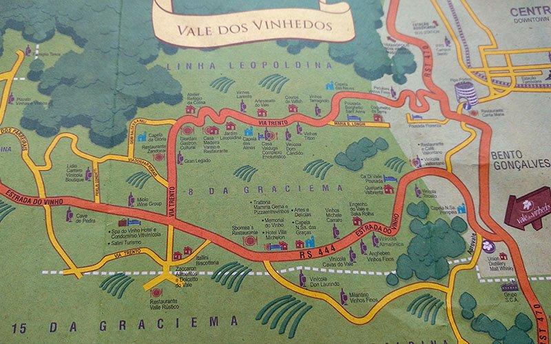 mapa do vale dos vinhedos bento goncalves