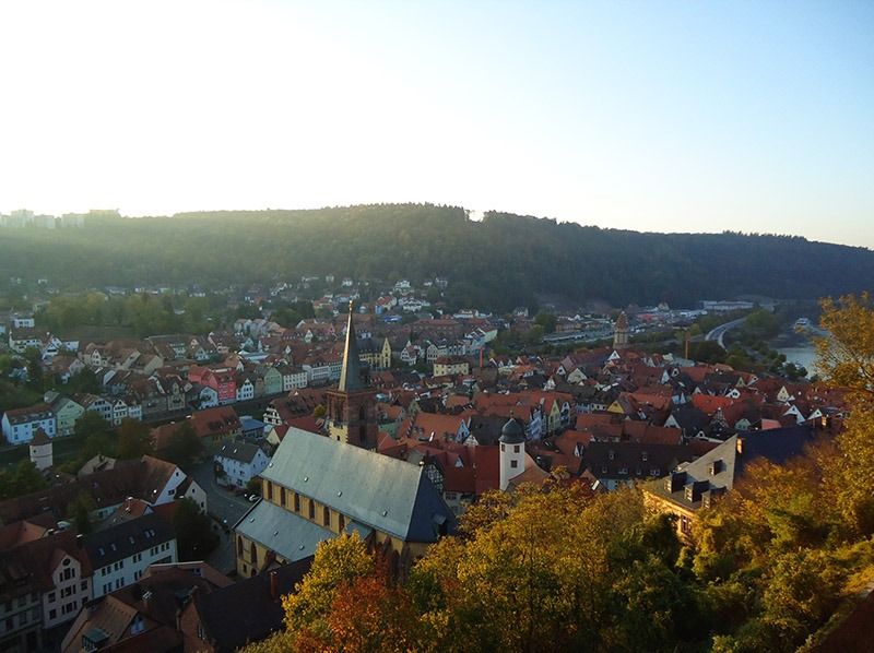 vista do castelo de wertheim alemanha