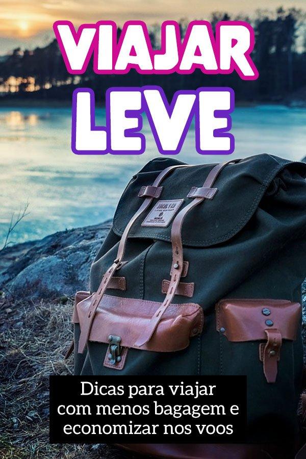 Como viajar leve, guia para viajar com menos bagagem e peso