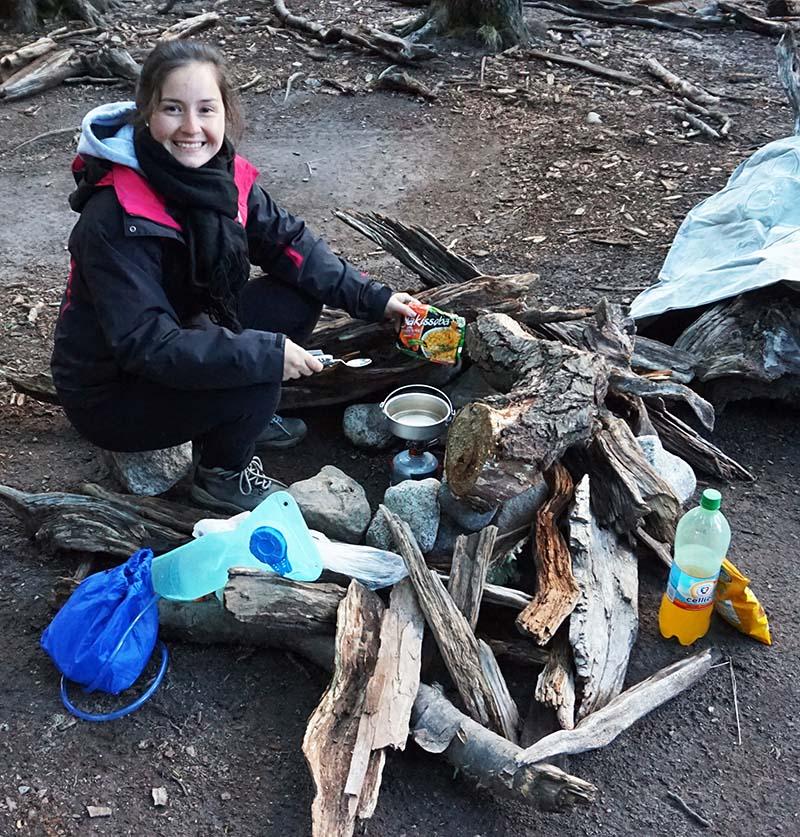 acampamento em el chalten fogueira