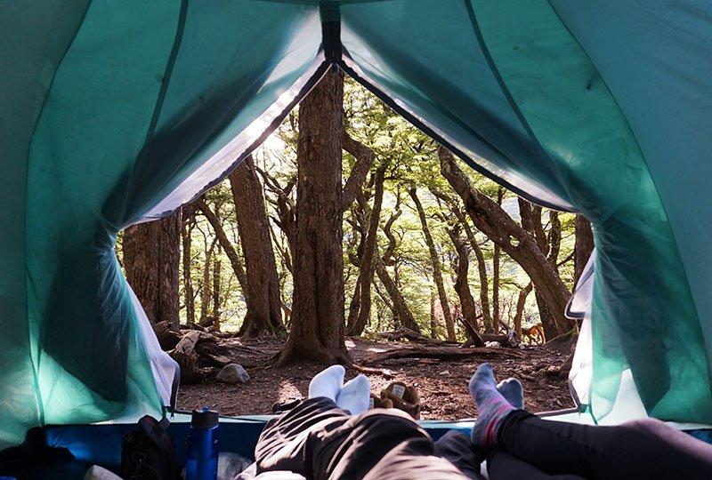 barraca acampamento el chalten argentina