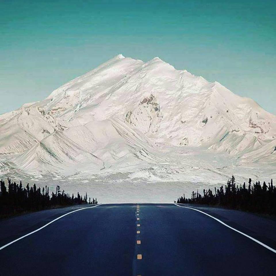 estrada montanha com neve estados unidos
