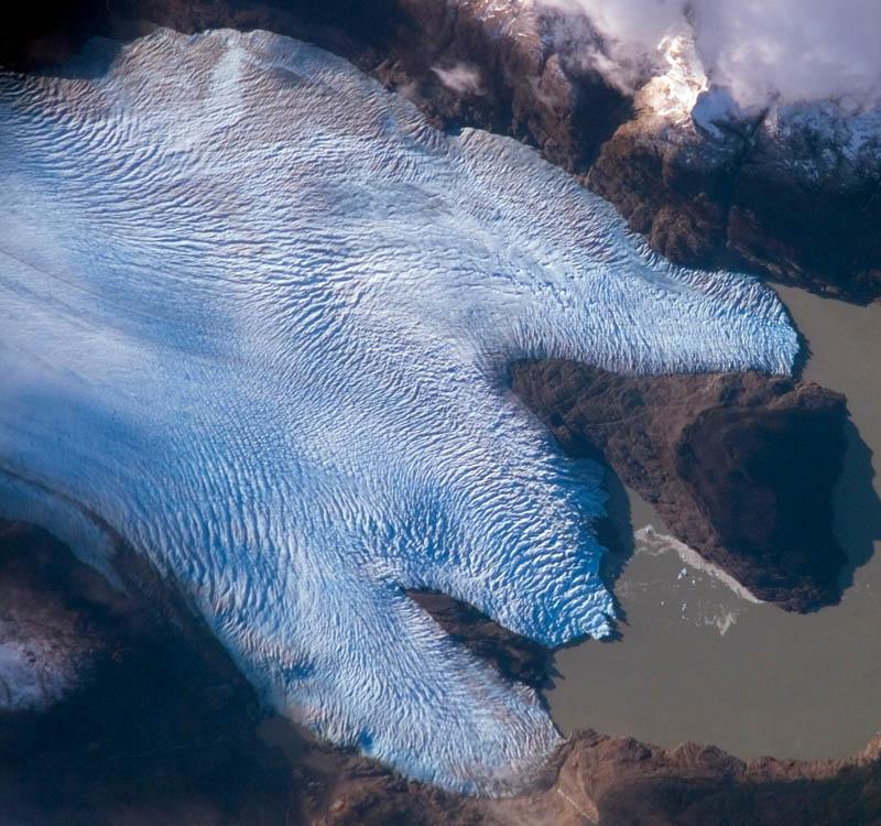 glaciar grey visto do espaço