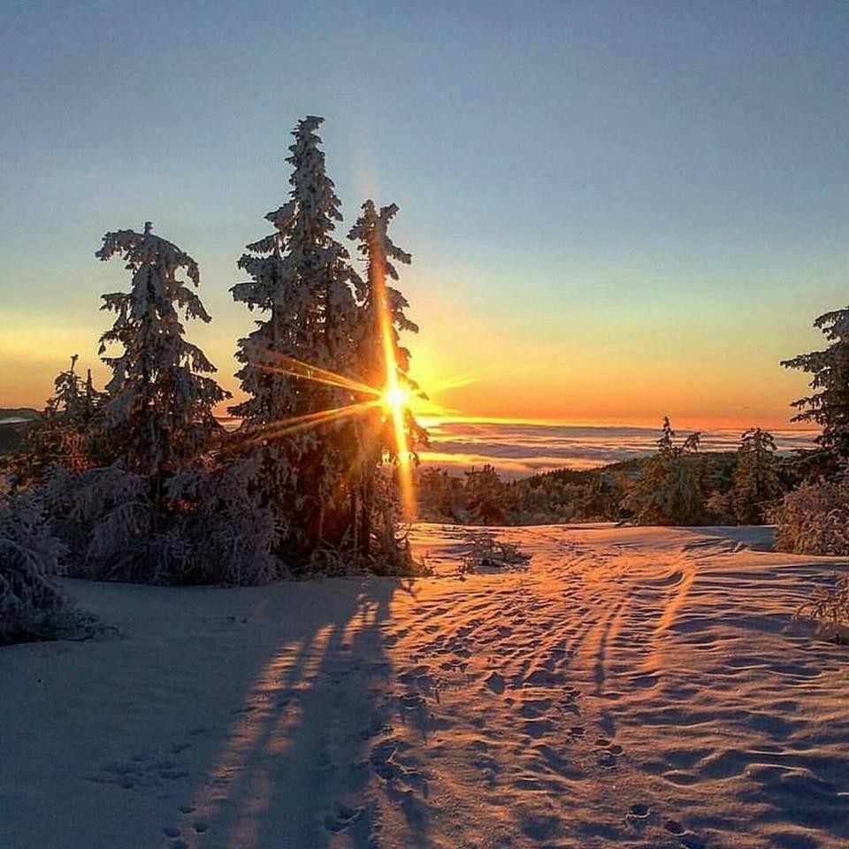 nascer do sol nas montanhas neve estados unidos