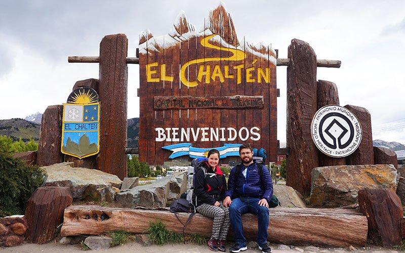 placa el chalten capital do trekking argentina