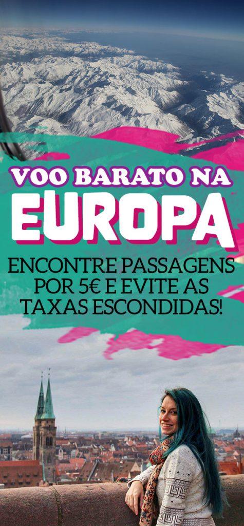 Viagem barata de avião na Europa, low costs