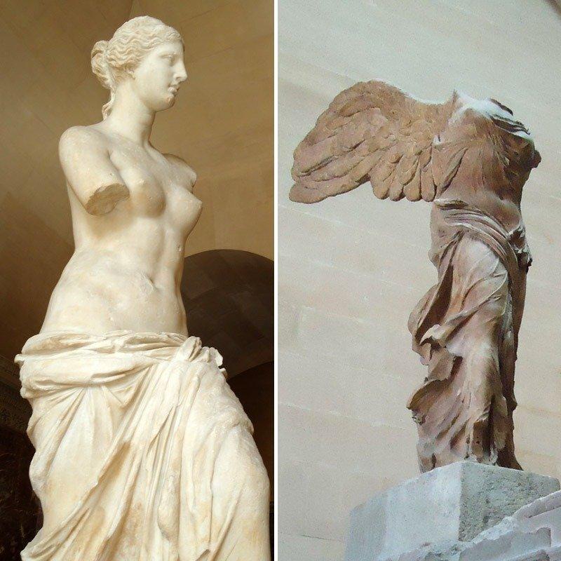 esculturas imperdiveis no louvre