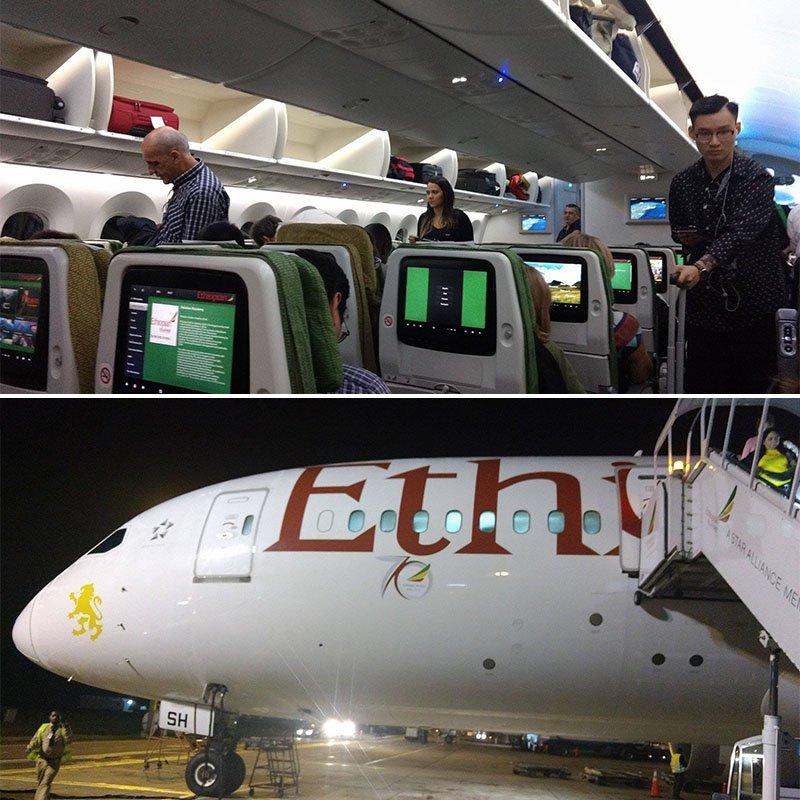 Como é voar para a Itália parando na Etiópia
