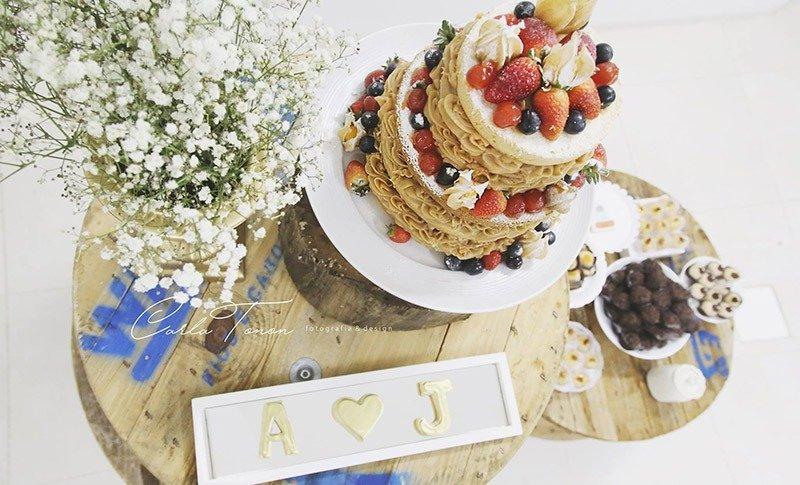 bolo docinhos de casamento de viagem