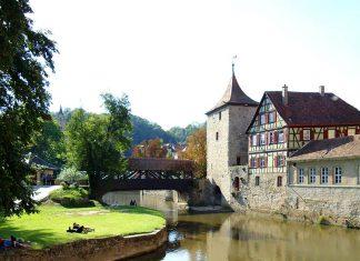 cidade antiga sul da alemanha schwabisch hall