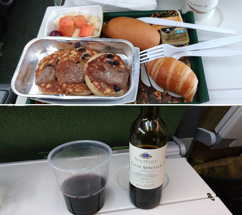 comida ethipian airlines