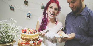 noivo de dieta bolo naked cake morango casamento de viagem