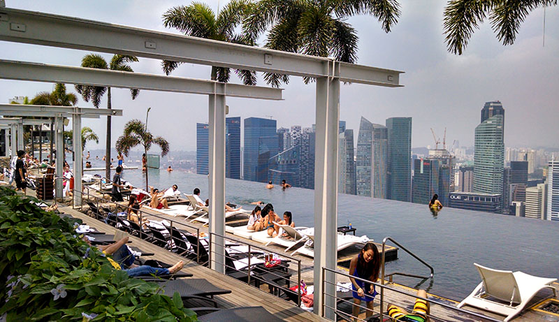 piscina mais alta do mundo marina bay sands