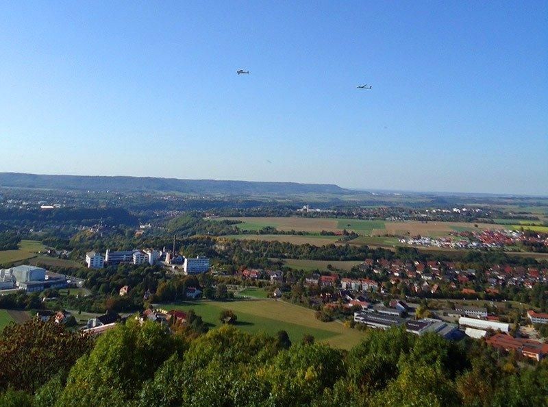 schwabisch hall vista de cima avioes