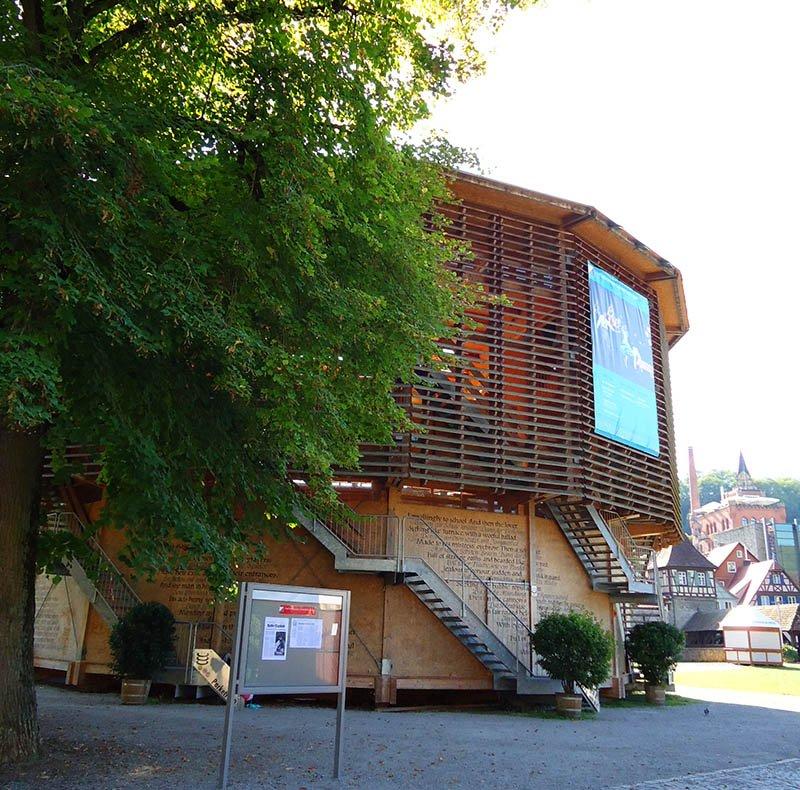 theater globe biergarten schwabisch hall