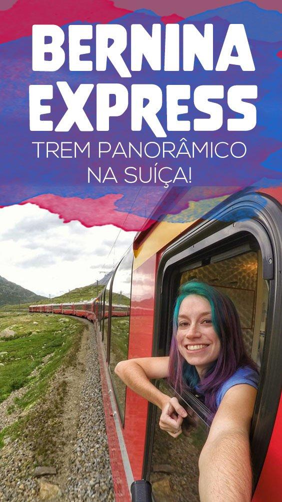 Como é viajar de trem panorâmico na Suiça, trajeto Bernina Express de Tirano a Coira
