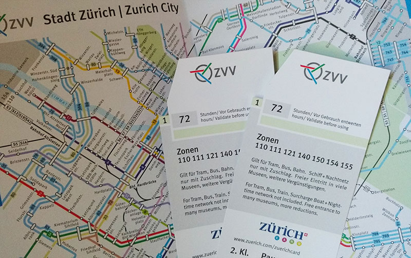 Como funciona o Zürich Card ticket zurique