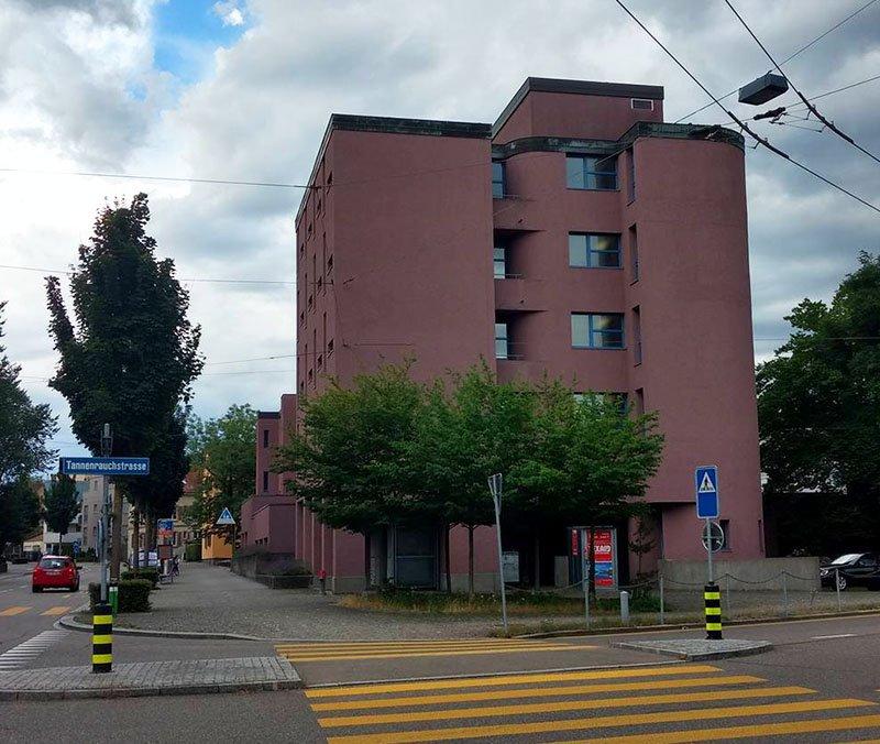 fachada hostel em zurique