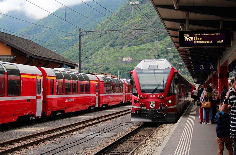 trem bernina express suica tirano chur