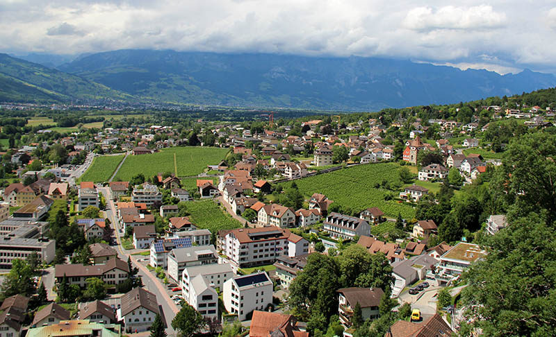 vista do mirando em liechtenstein vaduz