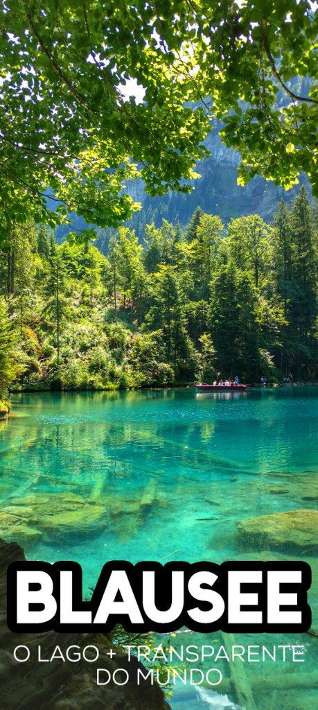 Blausee, o lago azul incrível da Suíça