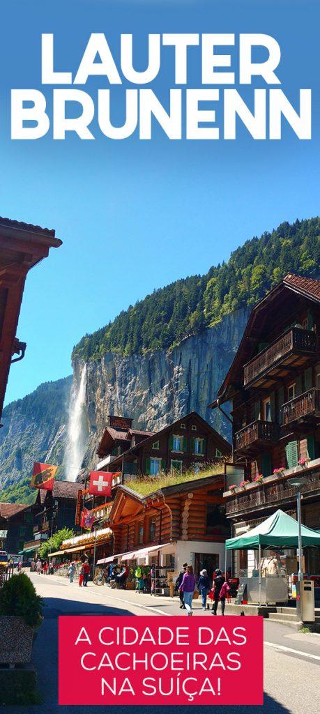 Lauterbrunnen na Suíça, vila rodeada de cachoeiras e penhascos