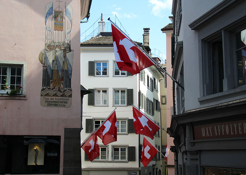 bandeiras da suica turismo em zurique