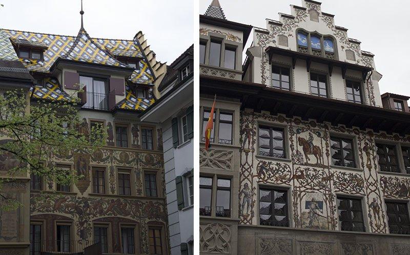 casas bonitas em lucerna pintadas