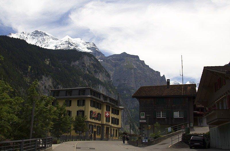 montanhas cidades na suiça lauterbrunnen