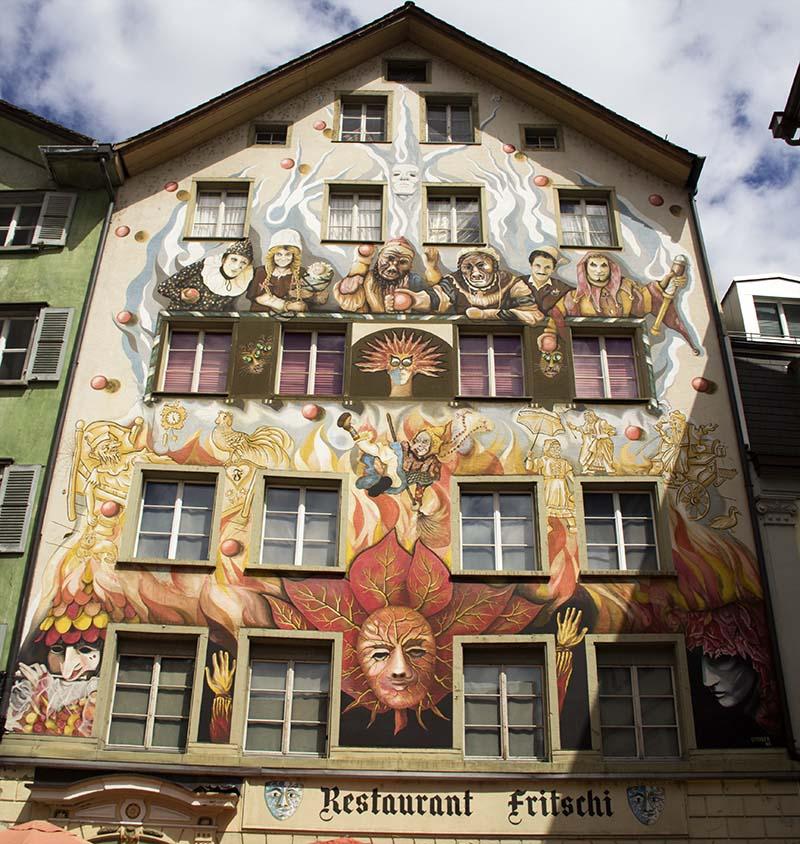 pintura carnaval lucerna suiça