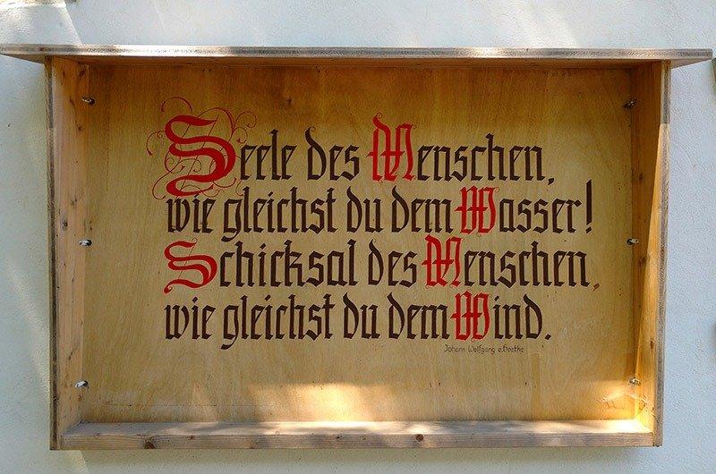 poesia na madeira em alemao goethe