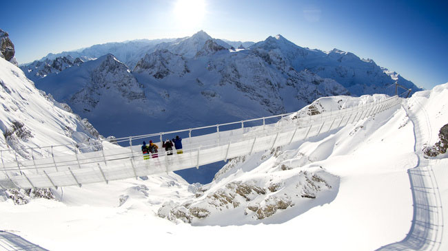 ponte suspensa titlis suica