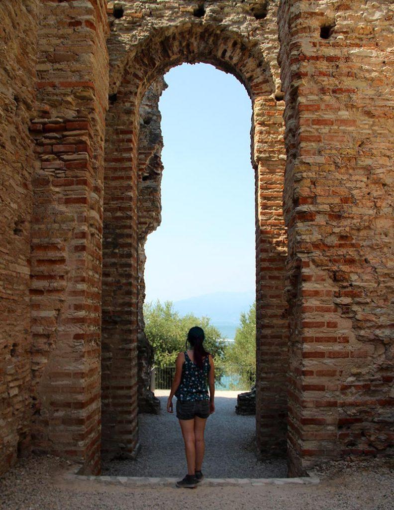 ruinas romanas em sirmione arco