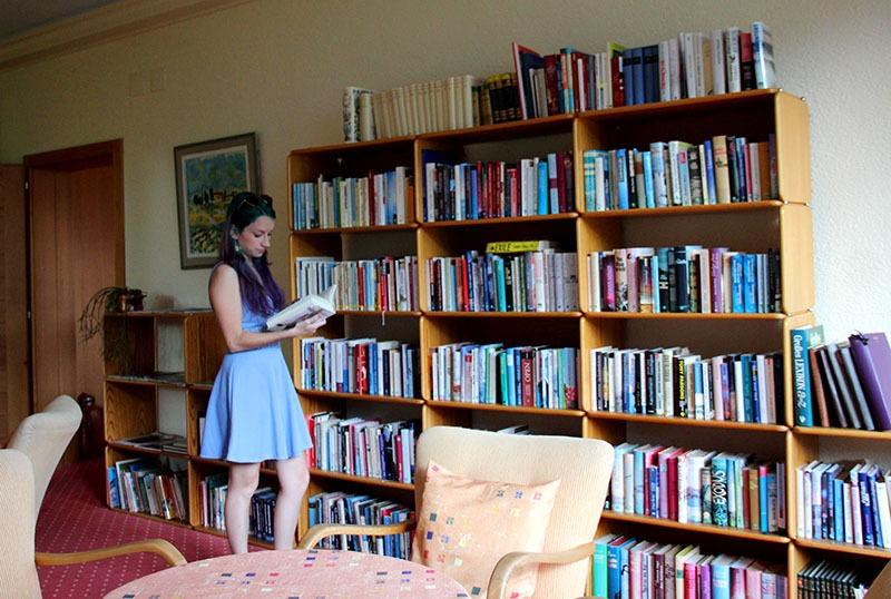 sala de leitura hotel em wengen