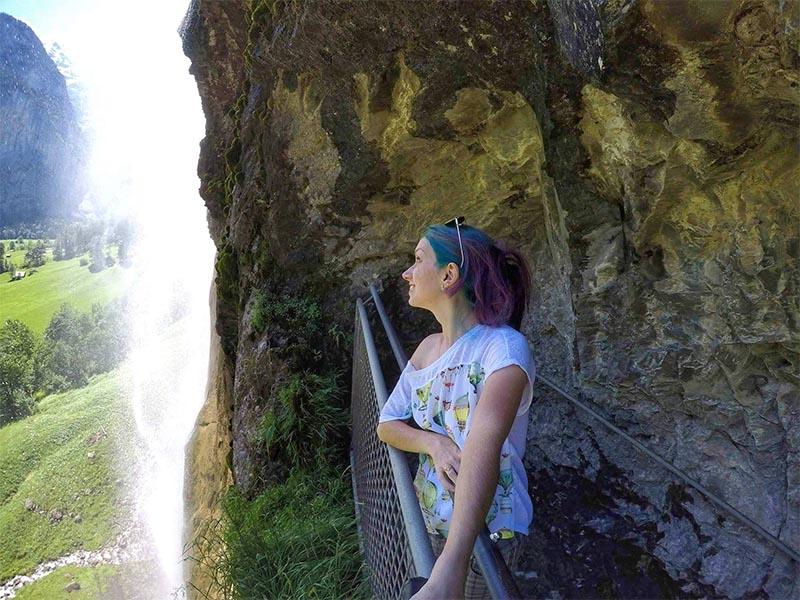 trilha ate cachoeira lauterbrunnen