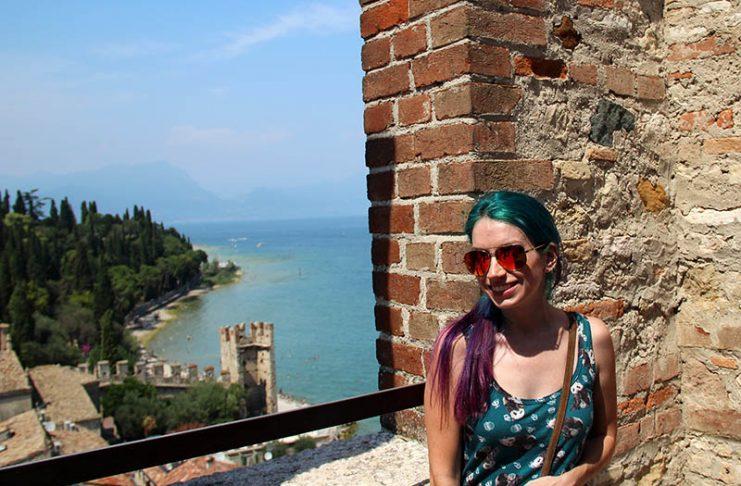 vista do lago di garda sirmione castelo