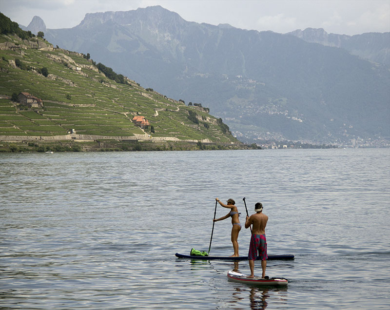 cully beach montreux riviera stand up paddle