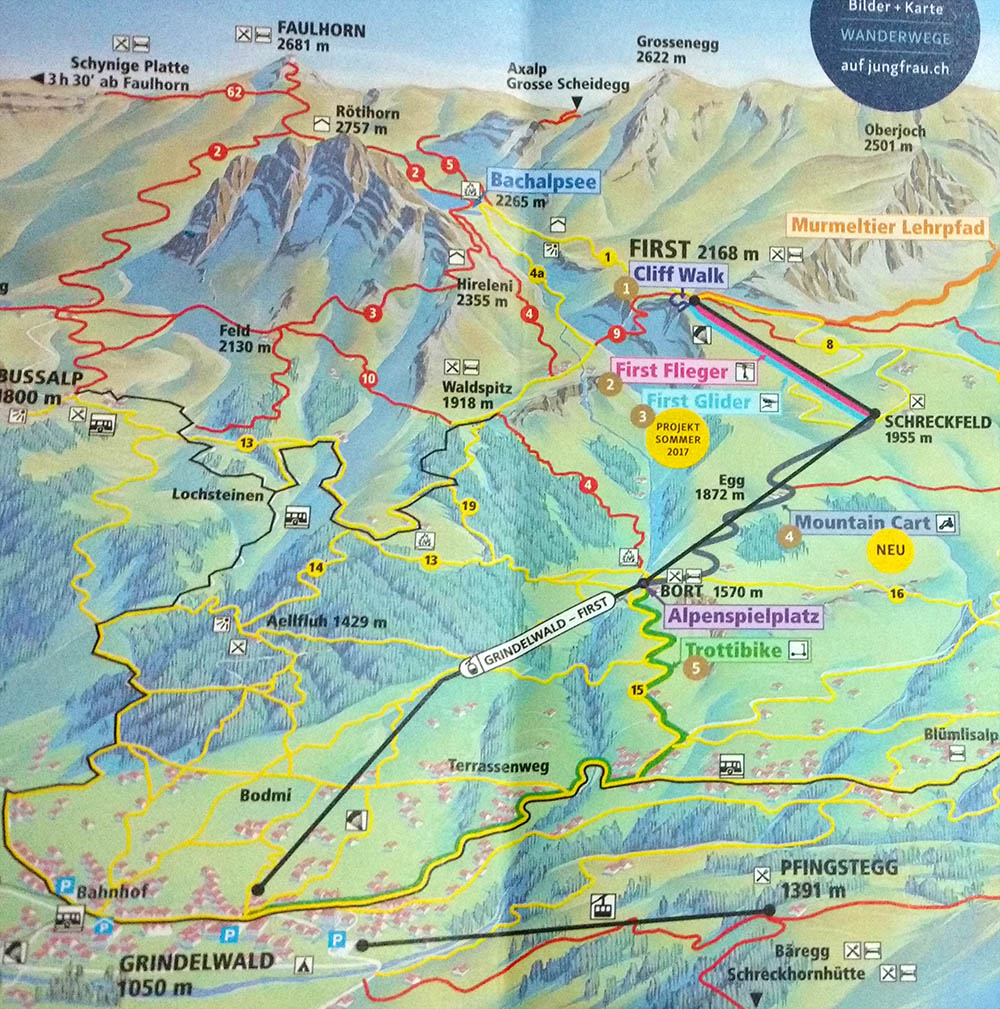 mapa grindelwald first mountain cart