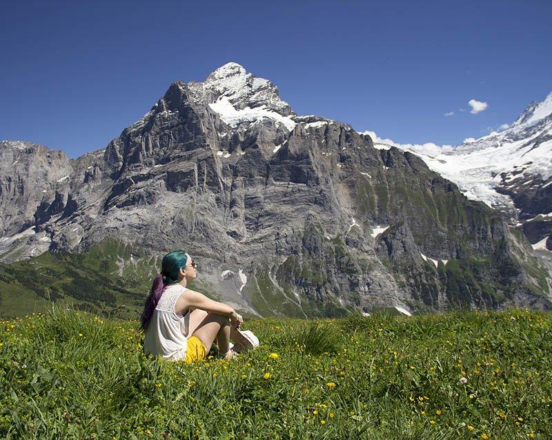 montanhas eiger grindelwald first campo verde