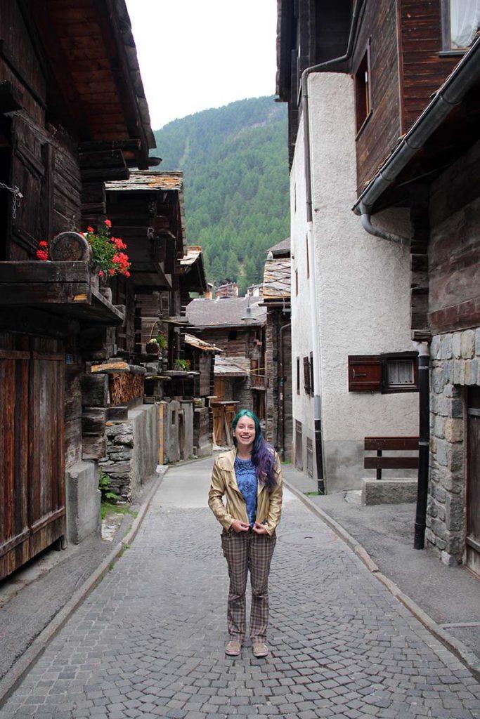 ruas antigas centro historico zermatt suica